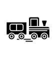 little train black icon concept vector image vector image
