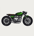 motorbike vintage colorful concept vector image vector image