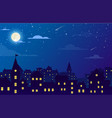 night city with buildings vector image vector image