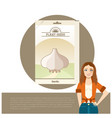 pack of garlic seeds icon vector image