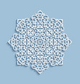 paper lace doily cutout round pattern vector image vector image
