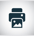 photo printer icon for web and ui on white vector image vector image