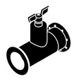 pipe tap icon simple black style vector image vector image
