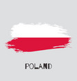 poland watercolor national country flag icon vector image