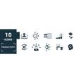 productivity icon set include creative elements vector image vector image