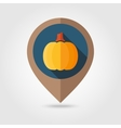 Pumpkin flat mapping pin icon vector image vector image