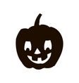 Pumpkin silhouette icon of the day halloween vector image vector image