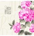 Purple flower hydrangea vector image vector image