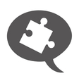 puzzle game piece isolated icon vector image vector image