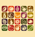 retro fruits design icons vector image