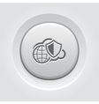 Safety Global Cloud Icon Grey Button Design vector image