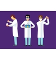 Science laboratory people set vector image vector image