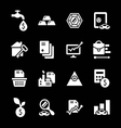 Set icons of investment and finance vector image vector image