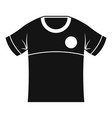 shirt icon simple style vector image vector image