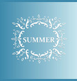 summer design with floral pattern on a blue vector image vector image