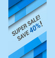 super sale advertising poster vector image