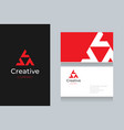 triangle-logo-with-business-card vector image