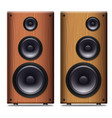 two stereo speakers with no cover on a white vector image vector image