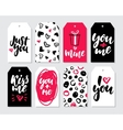 valentines day gift tag set collection vector image vector image