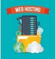 Web hosting design vector image vector image