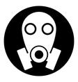 Gas mask symbol button vector image
