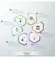 Infographic report template made from lines vector image