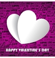 Valentines day with paper vector image
