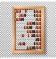 abacus set realistic of vector image