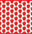 background pattern with red apples vector image vector image