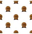 beer seamless pattern in flat style barrels with vector image vector image