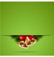 bells bacground green vector image