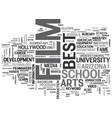 best film school in us text word cloud concept vector image vector image