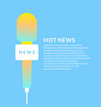 bright poster with the news of a microphone vector image vector image