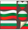 Bulgaria flags set vector image
