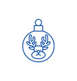 christmas ball with a deer line icon concept vector image vector image
