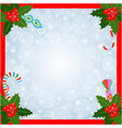 christmas card frame vector image vector image