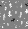 christmas seamless pattern with cute vector image