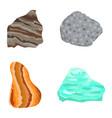 Collectionof semi precious gemstones stones vector image