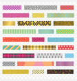 color washi tape strips different types set vector image