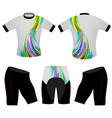 colors lines on t-shirt vector image vector image