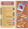 Costa Rica infographics statistical data sights vector image vector image