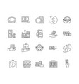 currency line icons signs set outline vector image vector image