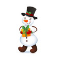 cute snowman christmas with vector image vector image