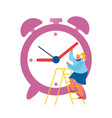 deadline stress and time management concept vector image vector image