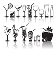 Different kinds of glasses with aperitifs juice vector image vector image