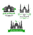 eid mubarak festival muslim greetings set vector image vector image