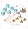 Energy 17 Infographic Isometric vector image vector image
