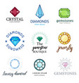 expensive jewelry diamonds of different shapes vector image vector image