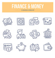 Finance Money Doodle Icons vector image vector image