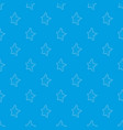five-pointed star pattern seamless blue vector image